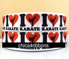 ribbon by the yard 1 25mm i karate printed grosgrain ribbon by the yard for hair