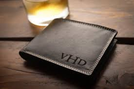 personalized mens wallet for men fathers gift for dad birthday