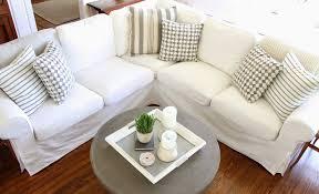 living room ikea pottery barn sofa ideas slipcover ektorp versus