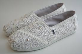wedding shoes toms toms wedding shoes white crochet with by nakitajanedesigns on etsy