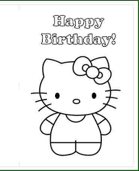 kitty happy birthday coloring pages design ideas