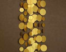 wedding garland gold paper garland gold decor gold