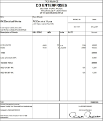 quotation format manpower supply download excel format of tax invoice in gst gst invoice format