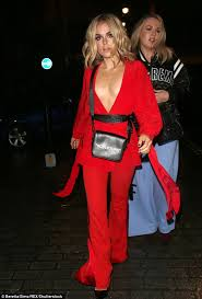 blouse nip slip tallia sizzles in scarlet blouse at lfw daily mail