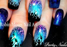 Nail Art Designs For New Years Eve Nail Art Tutorial New Years Eve Fireworks Nails Nye Party Nail