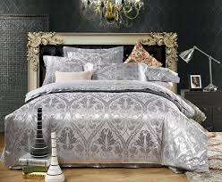 Jacquard Bedding Sets 2018 Luxury Jacquard Satin Cotton Silk King Size Bedding