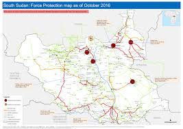 Map Of Sudan South Sudan Force Protection Map As Of October 2016 Logistics