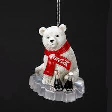Pepsi Christmas Ornaments - cc2124 coca cola polar bear cub on ice ornament