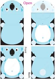 cut out folder template with koala for kids free printable