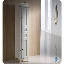 Fresca Oxford Antique White Tall Bathroom Linen Cabinet Linen - Antique white bathroom linen cabinets