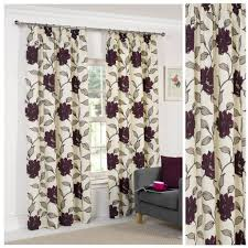 Curtain Pleating Tape Floral Plum Lined Pencil Pleat Tape Top Lightweight Polyester