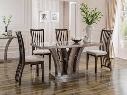 Marble And Wood Dining Table Sophia Round Marble Dining Table For 4 Wood Dining Chairs Above