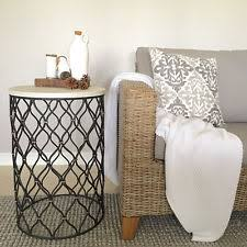 metal round side tables ebay