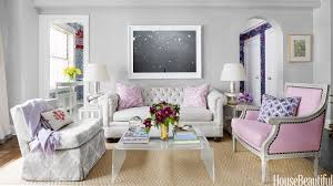Small NYC Apartment Design Lavender Decorating Ideas - New york living room design
