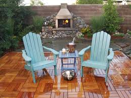 outdoor chimney fire pit and chairs karenefoley porch and