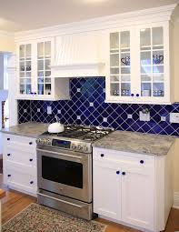 blue tile backsplash kitchen blue tile backsplash kitchen outofhome