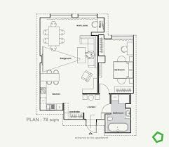 Apartment Floor Planner Relaxing Color Schemes In 3 Efficient Single Bedroom Apartments