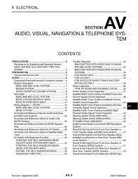 2006 nissan pathfinder audio visual system section av pdf