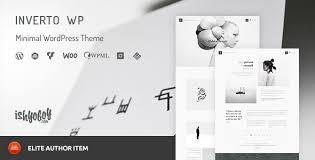 inverto wp minimal wordpress theme by ishyoboy themeforest