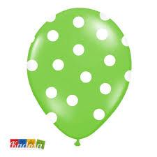 palloncini clipart palloncini verdi pois bianchi grandi biodegradabili set 6 pz kadosa