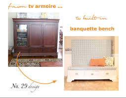 kitchen armoire cabinets from tv armoire to built in kitchen banquette hometalk