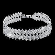 bracelet luxury crystal images Luxury crystal bracelets for women silver bracelets bangles jpg