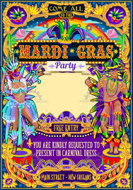 mardi gras picture frame mardi gras carnival poster frame carnival mask show parade image