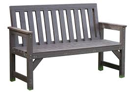 outdoor seat bench garden furniture brown 2 seater 100 recycled