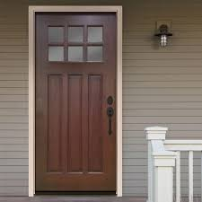 32 Exterior Doors Steves Sons 32 In X 80 In Craftsman 6 Lite Stained Mahogany