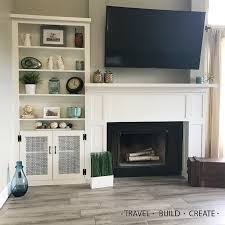 Fireplace Surround Bookshelves Diy Fireplace Surround And Built In Bookshelves