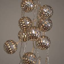 String Ball Lights by Grand Maroq Silver String Lights By All Things Brighton Beautiful