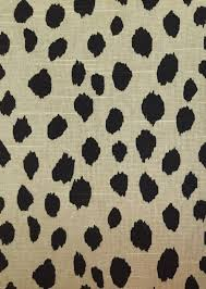 natural black dot animal print upholstery fabric by the