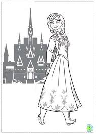 free coloring pages princess anna disney frozen