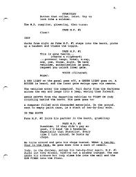 army fallen comrade table script indiana jones and the city of the gods frank darabont script