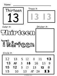 number 13 worksheets worksheets
