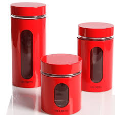 4 Piece Kitchen Canister Sets by Old Dutch Red Rooster 4 Piece Kitchen Canister Set U0026 Reviews