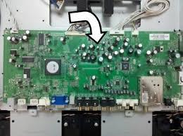vizio sound bar flashing lights vizio vx32l black screen no sound which board to replace