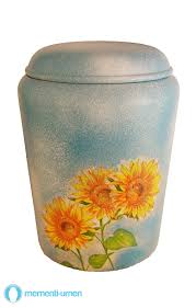 urn for human ashes bbs1725 sunflower biodegradable funeral urn for human ashes