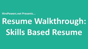 skills based resume templates resume walkthrough skills based resume template youtube resume walkthrough skills based resume template