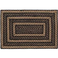 Black Jute Rug Black Braided Area Rugs Ebay