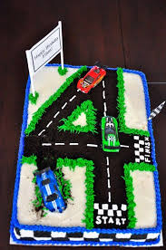 4th birthday cake make a road out of whatever number it is cj u0027s
