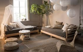 daybed for living room a living room in natural colors and decorated with day beds paper
