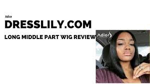 dresslily com wig review long middle part bob wig mary maria