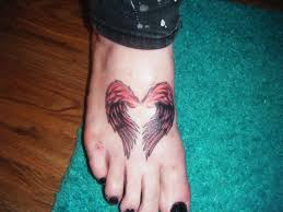 tattoo pictures of angel wings angel wings foot tattoo creativefan