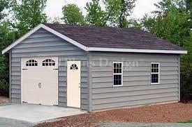 18 x 28 car garage workshop shed building plans material list