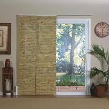Patio Blinds Shades Lewis Natural Bamboo Panel Track Sliding Window Shade Slider