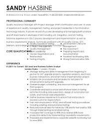 quality assurance resume exles for study sle stibera resumes quality quality assurance policy