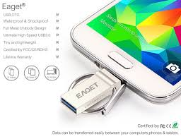 eaget 2 in 1 16 32 64gb otg usb 3 0 flash drive water
