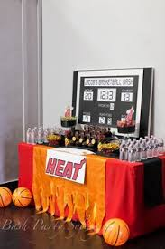 basketball party table decorations embroidered chicago bulls basketball pillow basquet pinterest