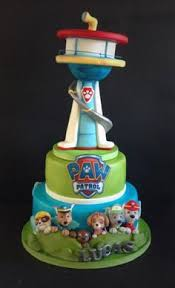 paw patrol tower cake totally caked paw patrol
